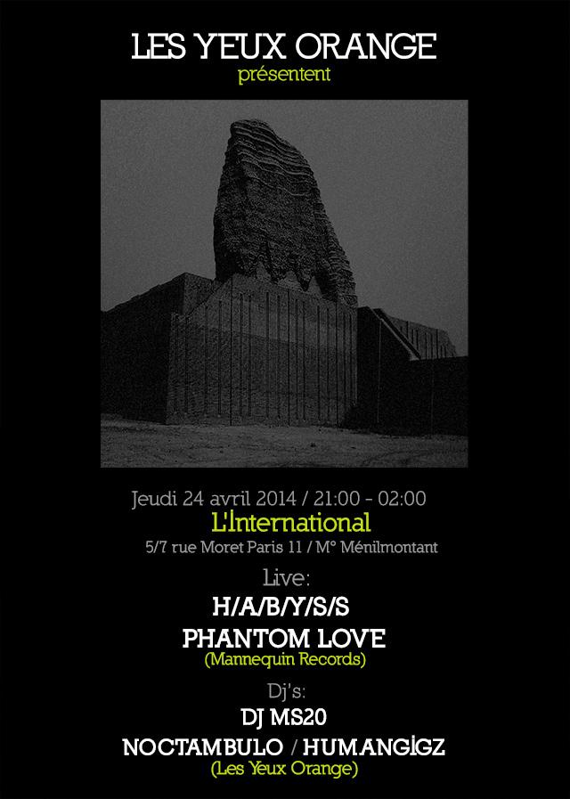 Phantom Love, Habyss @ l'Internationnale